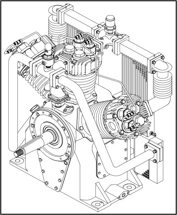 Locomotive air compressor
